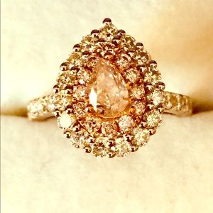 Jewelry - NATURAL PINK DIAMOND RING, 18kt.